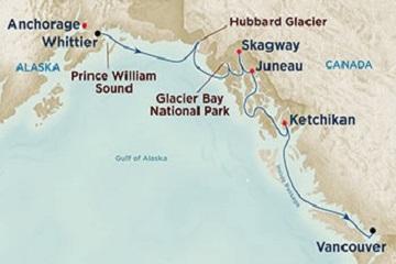 Princess Cruises Alaska 7-tägig zwischen Mai und September 2016