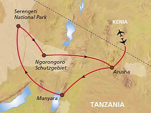 Tansania Route